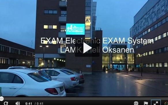 Opiskelijoille ohjeistus EXAMin käytöstä (Oksanen, 2017)